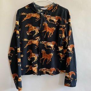 Keren Hart sweatshirt with horses size XL